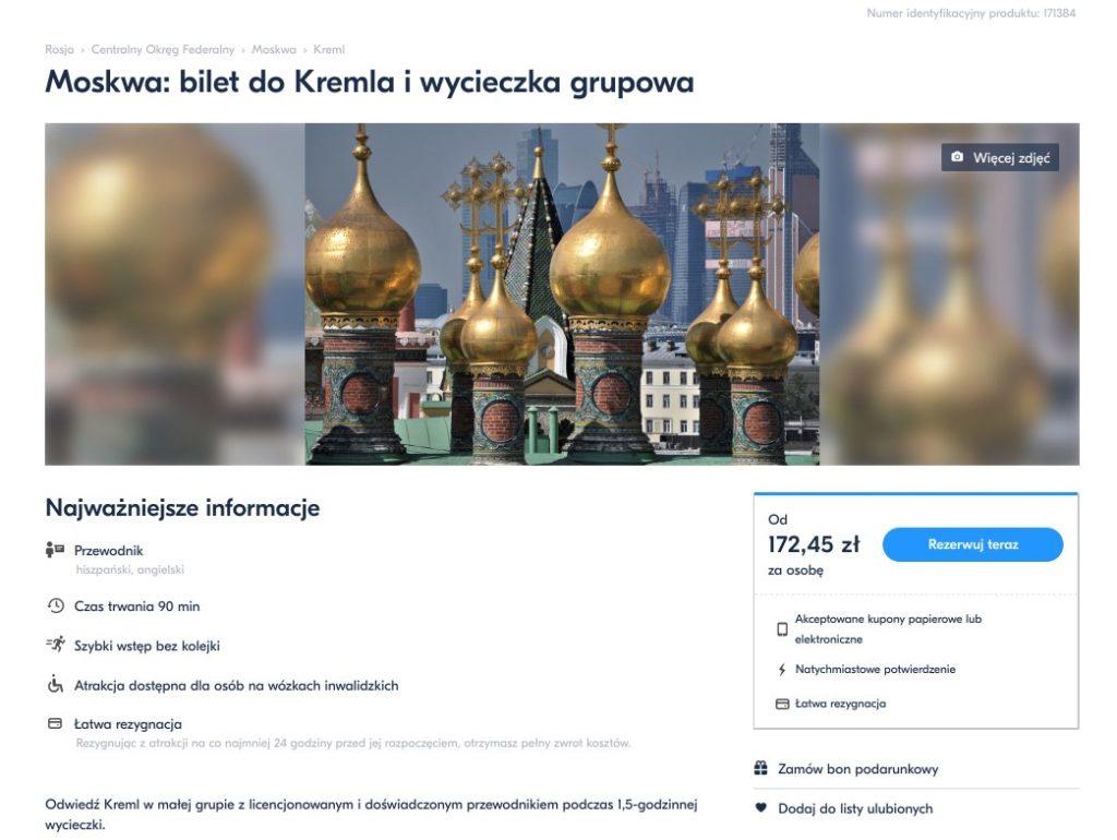 Moskwa - bilet do Kremla i wycieczka grupowa
