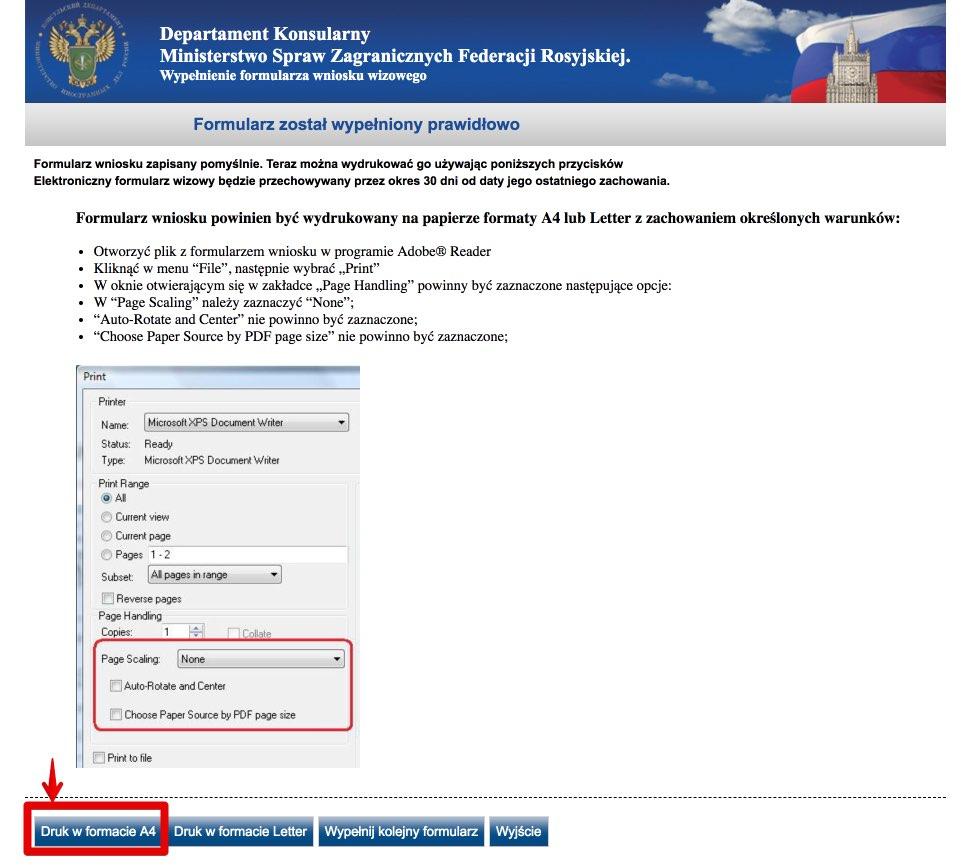 Rosyjski formularz wniosku wizowego 11